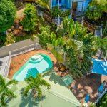 La piscine et le carbet de l'appartement Lodge Cococ Deshaies Guadeloupe
