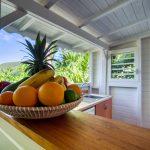 La cuisine de l'appartement Lodge Coco Deshaies Guadeloupe