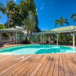 La piscine de l'appartement Lodge Coco Deshaies Guadeloupe