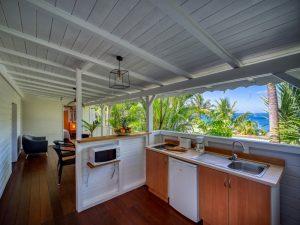Cuisine de l'appartement Lodge Coco Deshaies (Guadeloupe)