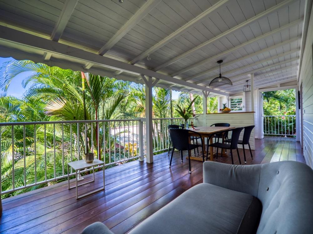 Guadeloupe appartement Lodge Coco Deshaies Salon