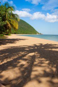Plage de Grande Anse à Deshaies, Guadeloupe